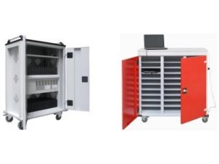 Wózki i szafki na laptopy oraz wysokiej jakości szafy do przechowywania laptopów.